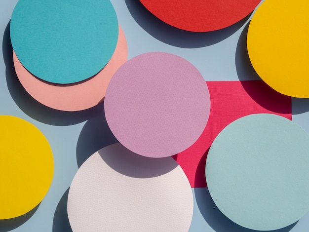 Diversity of abstract circles paper design Free Photo