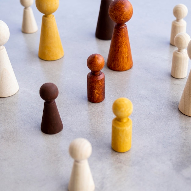 チェスの駒の多様性 無料写真