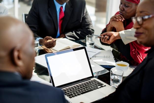 Diversity people talk international conference partnership Premium Photo