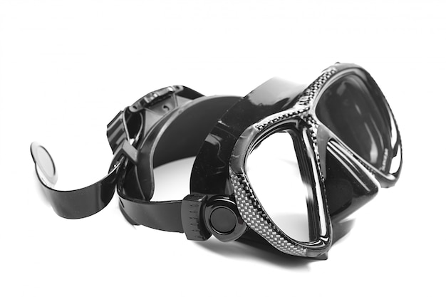 Diving mask isolated on white Premium Photo