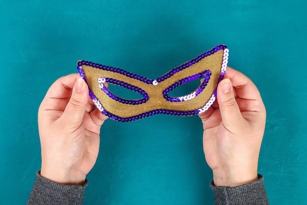 Diyの仮面舞踏会マスクマルディグラ、脂肪火曜日。 Premium写真