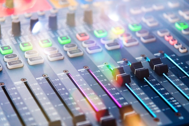 Dj console mixing desk Premium Photo