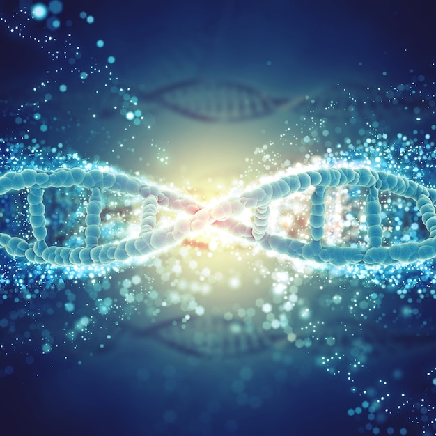 Dna in a microscopic view Free Photo