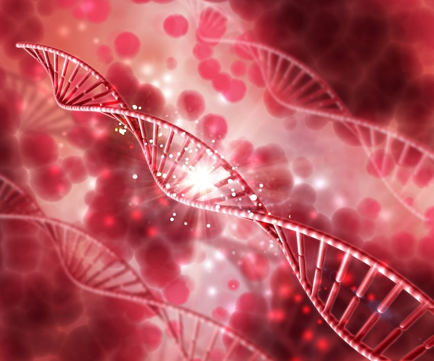 Dna in unfocused background Free Photo