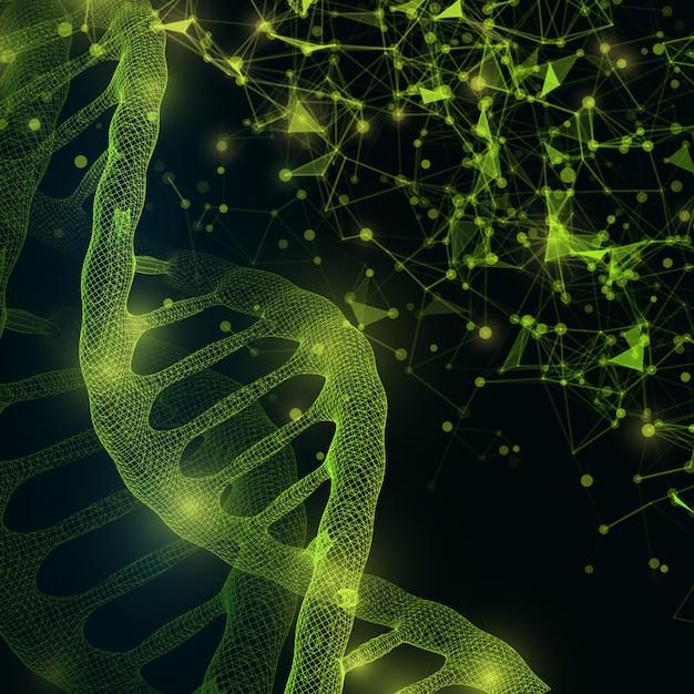 Dna分子構造の背景 Premium写真