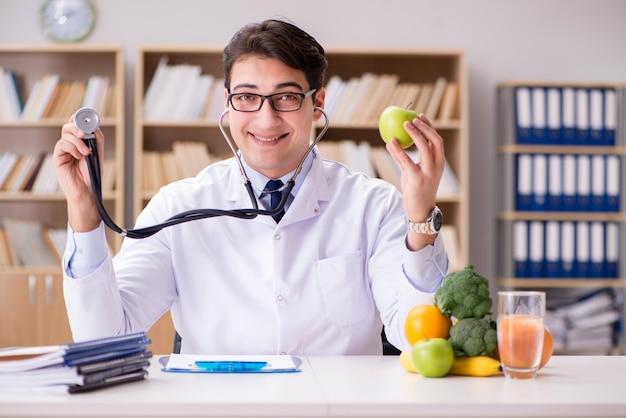 Doctor in gmo food concept Premium Photo