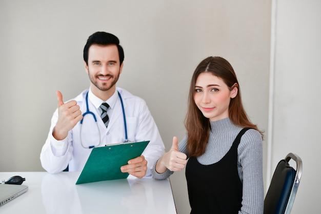 Doctor is examining the patient's health Premium Photo