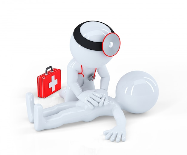 Doctor Providing First Aid Free Photo