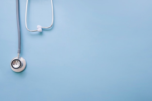 Doctor's stethoscope with blue background Free Photo