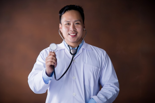 Doctor with stethoscope,doctor working in hospital Free Photo