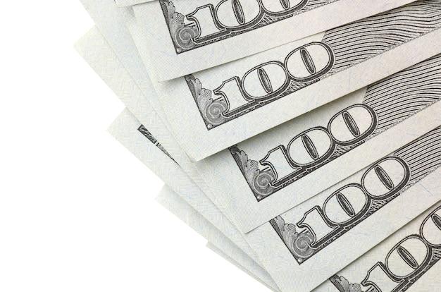 Dollar bills. american money isolated on white with copyspace Premium Photo