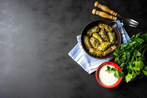 Dolma - traditional georgian dish Premium Photo