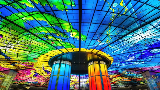 The dome of light at formosa boulevard station in kaohsiung city in taiwan. Free Photo