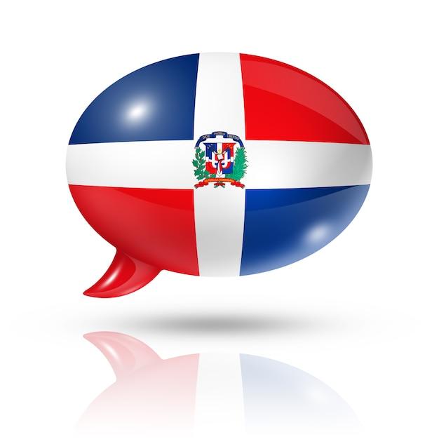Dominican republic flag speech bubble Premium Photo