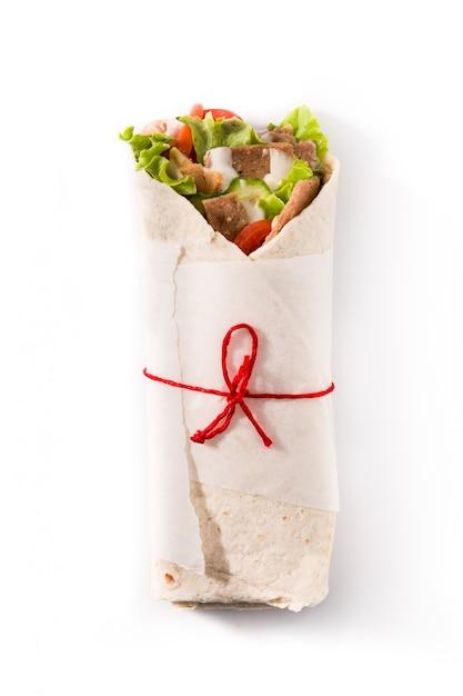 Doner kebab or shawarma sandwich Premium Photo