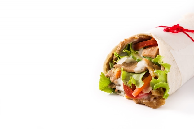Doner kebab or shawarma sandwich Premium Photo