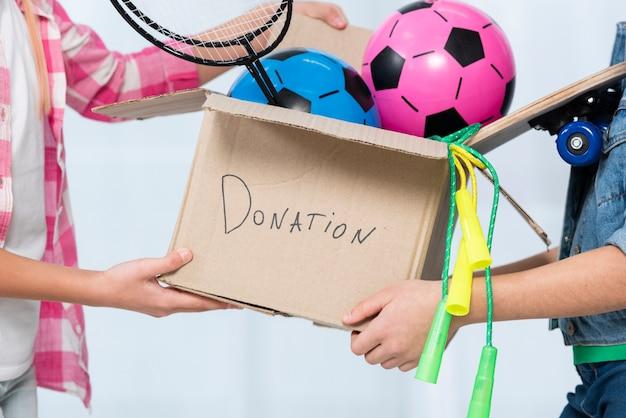 Dontaion коробка с крупным планом Бесплатные Фотографии