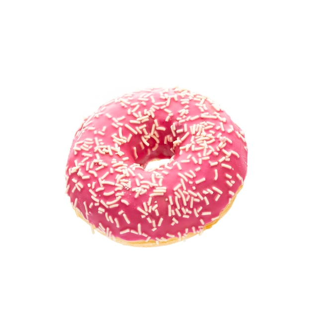 Donut isolated on a white background Premium Photo