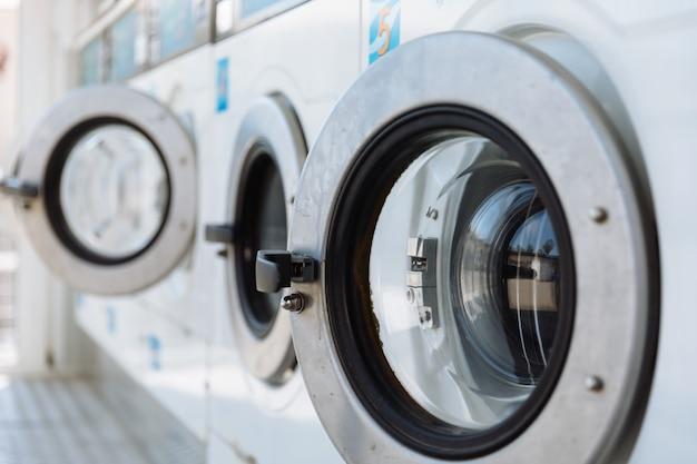 Door of a washing machine Premium Photo
