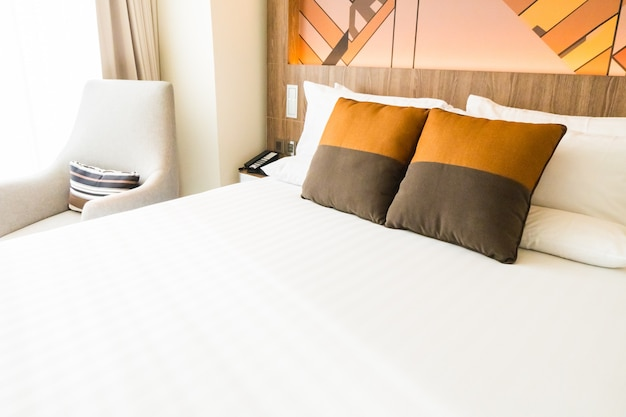 Double bed with cushions photo free download - Double bed image ...