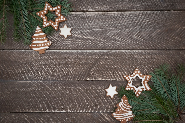 Double decoration of christmas ornaments Free Photo