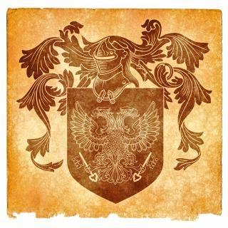 Double headed eagle grunge emblem  sepia Free Photo