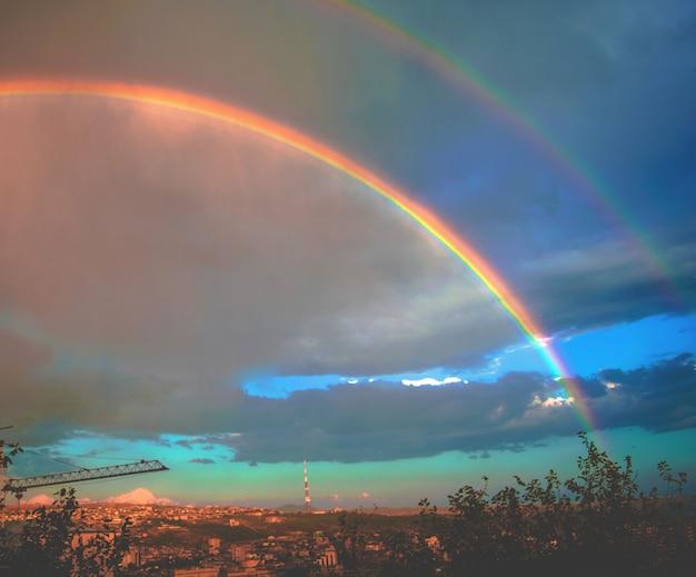 Double rainbow Free Photo