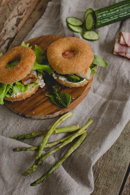 Doughnut sandwiches Free Photo