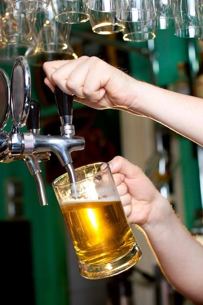 Draft beer Premium Photo