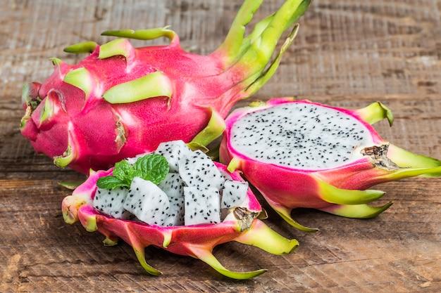 Dragon fruit for dessert,pitaya Free Photo