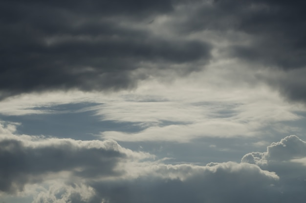 Dramatic sky with stormy clouds. Premium Photo