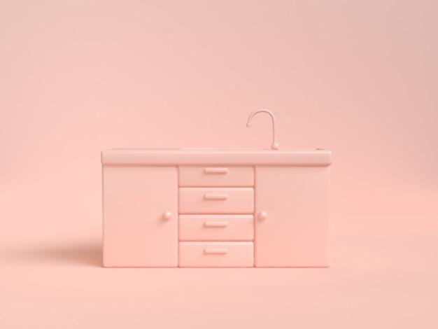 Tremendous Drawer Cabinet Kitchen Sink Abstract Soft Pink Cream 3D Download Free Architecture Designs Jebrpmadebymaigaardcom