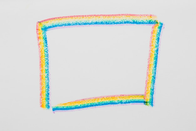 Drawn frame in lgbt colors Free Photo