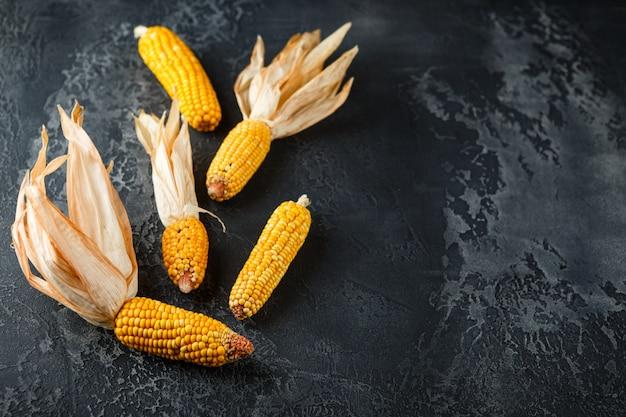 Dried corn on cobs Premium Photo