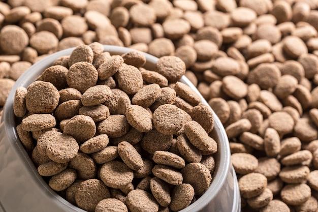 Dried dog food background Premium Photo