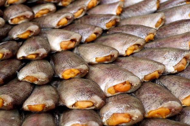 Dried fish at the market Premium Photo