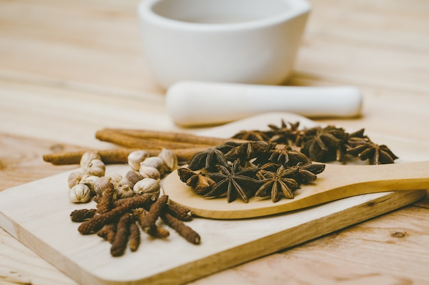Dried herb collection set  mix of dry plant seed herbal for nature alternative medical Premium Photo