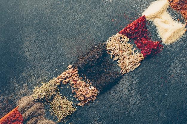 Dried herbs. high angle view. Free Photo