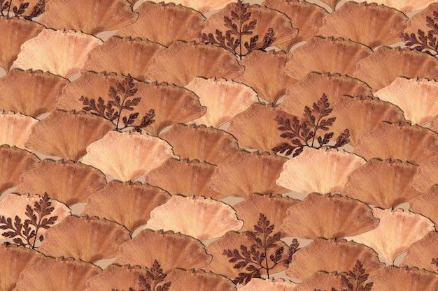 ベージュの模様の乾燥した葉 無料写真