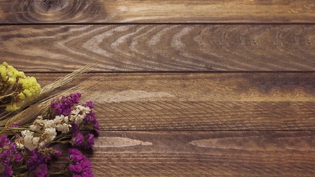 Dried lupine on the background of wood Free Photo