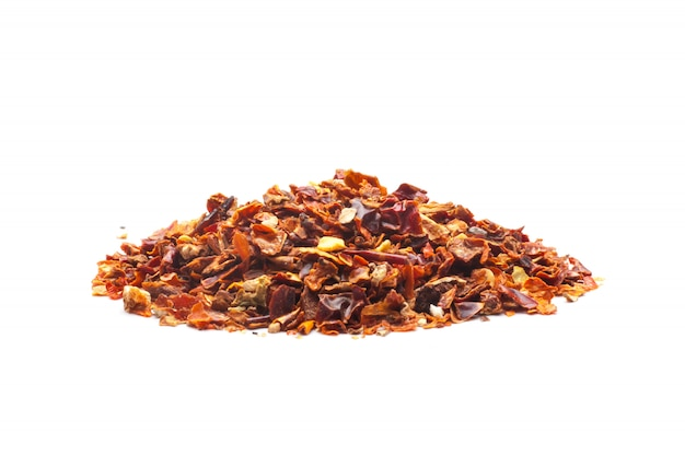 Dried red pepper flakes Premium Photo