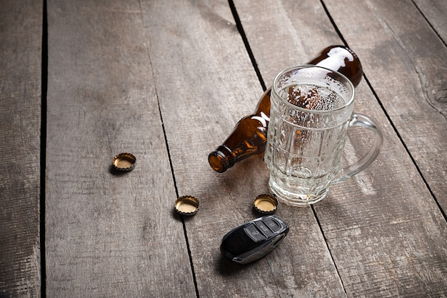Drinking and driving Premium Photo