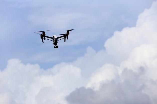 Drone in the air Premium Photo