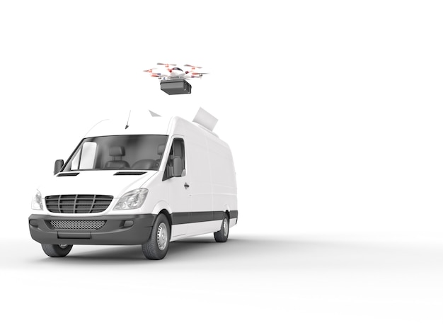 Drone delivery system Premium Photo