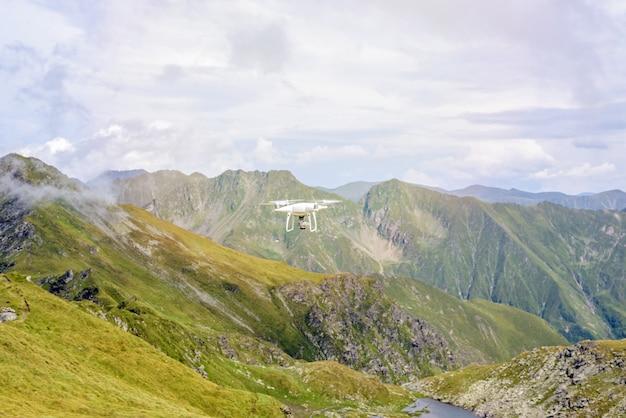 Drone flying in fagaras mountains Premium Photo