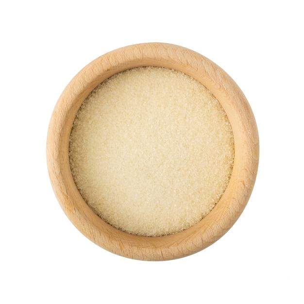 分離された乾燥ゼラチン顆粒 Premium写真