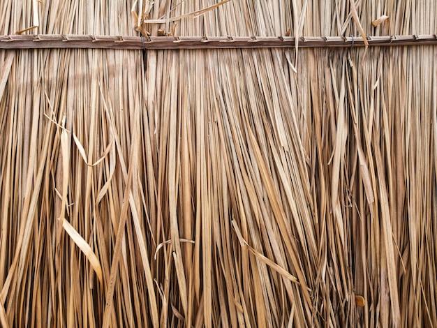 Dry grass to make roof hut. Premium Photo