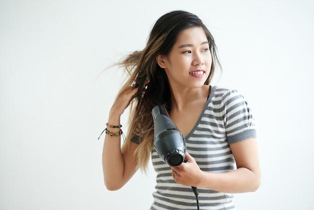 Drying hair Free Photo