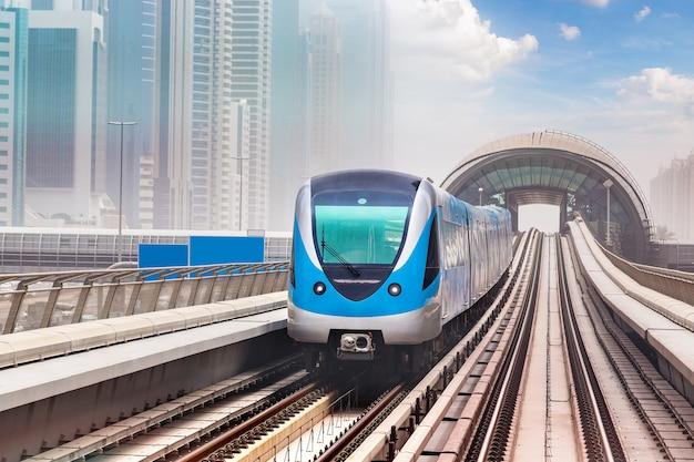 Dubai metro railway Premium Photo