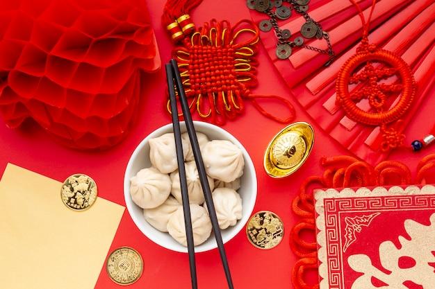 箸とランタン旧正月with子 無料写真